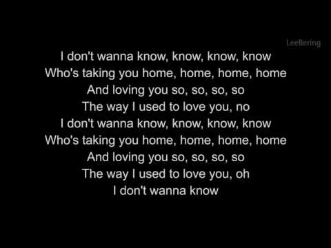 Maroon 5 Dont Wanna Know  (lyrics) (letra) download Karaoke
