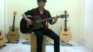 Guitar Phúc Sĩ 1triệu (tặng bao da, dây, pick)
