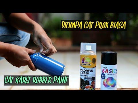 kira kira seperti ini jika cat rubber paint di timpa cat biasa..carlas rubber paint