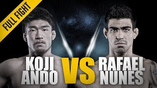 ONE: Full Fight   Koji Ando vs. Rafael Nunes   RNC Locked In Deep   July 2014