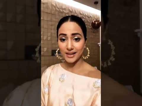 Hina Khan Live Instagram Diwali