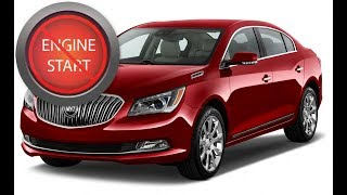 Buick LaCrosse: Opening and starting newer push-button start models with a dead key fob battery.