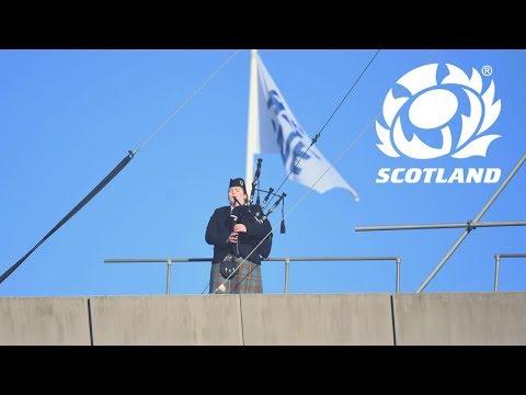 Scotland v England | The Lone Piper returns