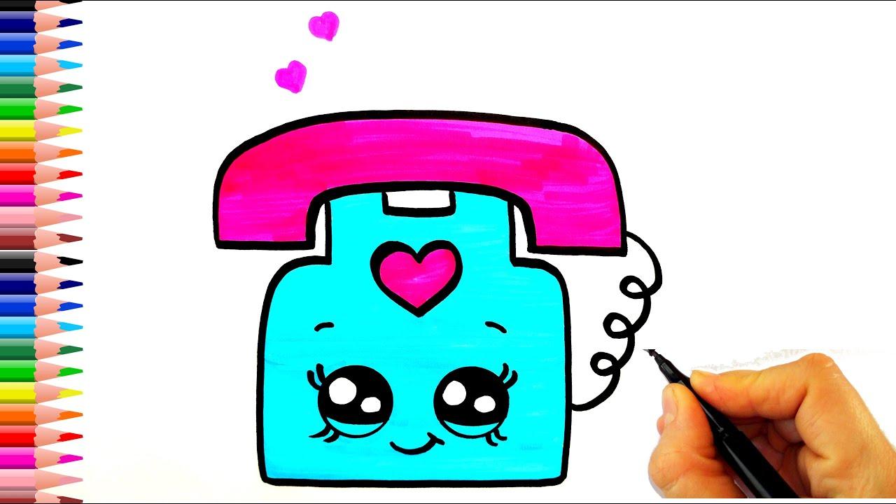 Cep Telefonu ve Sayılar Çizim Nasıl Yapılır? 📱 | Çocuk ve Bebek için Çizim ve Boyama