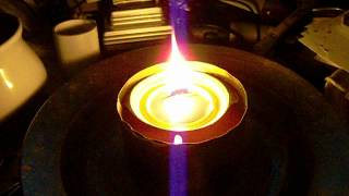 Bacon Grease Oil Lamp From a Tuna Can