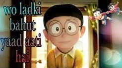    Wo ladki bahut yaad aati hai    Nobita shizuka love song    latest animated song 2017   