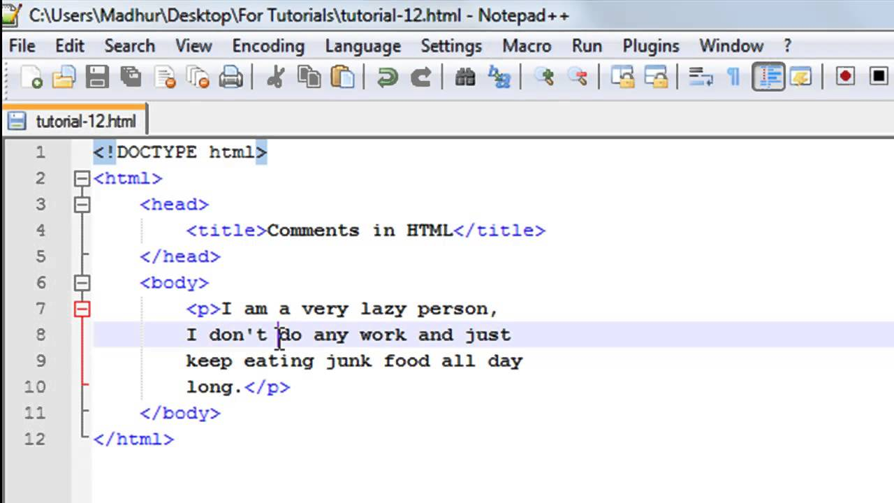 HTML Tutorial   20 Comments in HTML