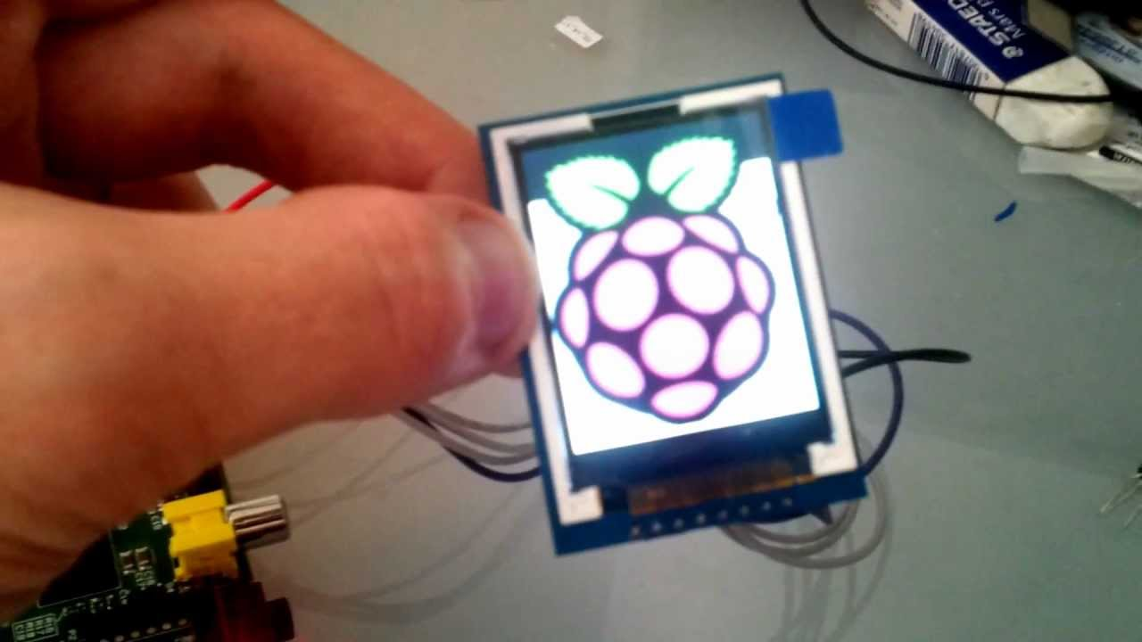 """Color 1.8"""" TFT LCD On A Raspberry Pi Using Python"""