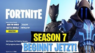 Fortnite SEASON 7 begins! New Battle Pass Skins 🔥 Creative Mode!