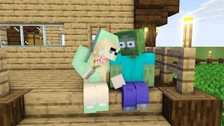 Monster School : ZOMBIE LOVE STORY ( zombie fall in love ) .PART 1 - Minecraft Animation