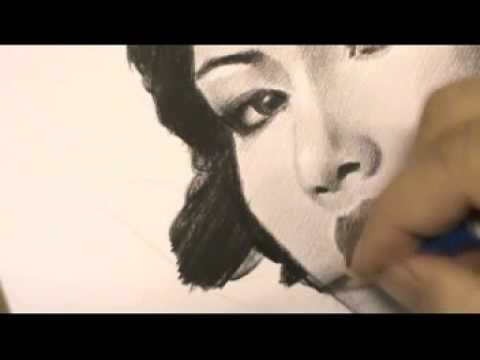 Drawing portrait Artiste ภาพวาดลายเส้นนักแสดงภาพยนต์เรื่องจันดารา