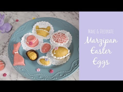 Marzipan Easter Eggs | How To Make And Decorate Marzipan Easter Eggs | Royal Icing Piping Tutorial