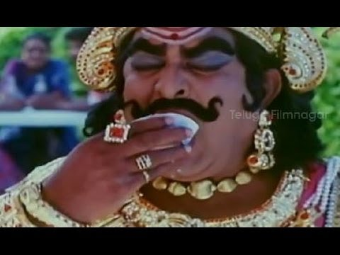 Yamaleela Movie Comedy Scenes - Satyanarayana & Brahmanandam relishing ice cream - Indraja