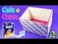Caja o Cesta - DIY CHALLENGE DE RECICLAJE - Ecobrisa DIY