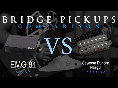 EMG 81 vs SEYMOUR DUNCAN NAZGUL - Active Passive Bridge Pickup Metal ...