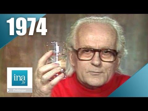 René Dumont - Campagne présidentielle 1974   Archive INA