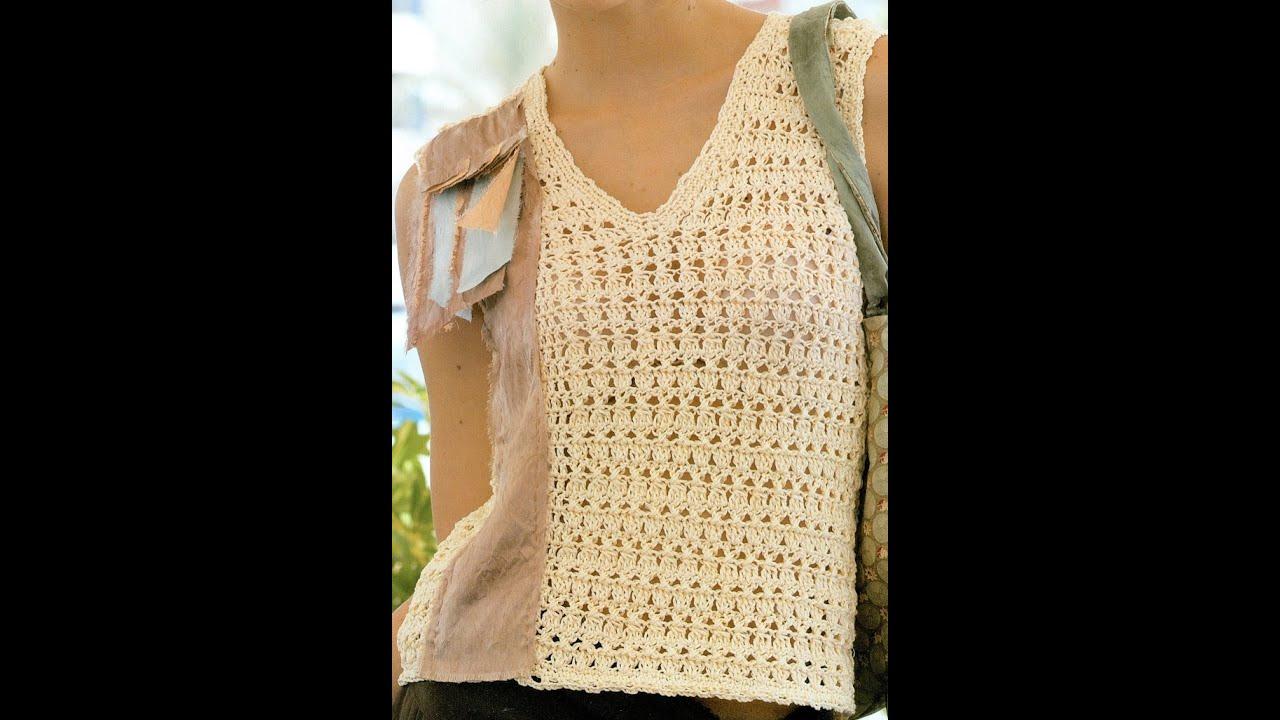 Patrón Para Tejer Blusa calada a Crochet - YouTube