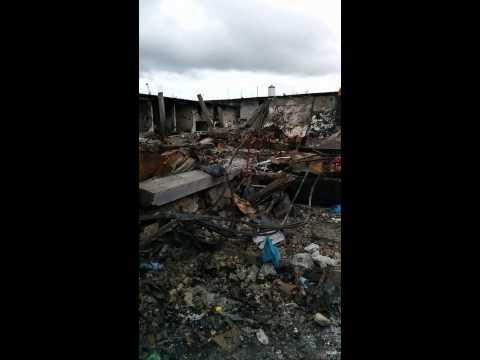 Gabon market fire