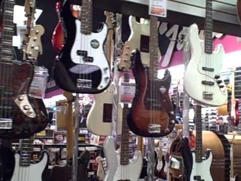 George's Music Orlando Bass Wall