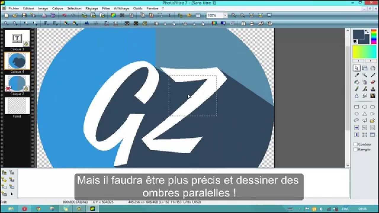 creer un logo avec photofiltre 7