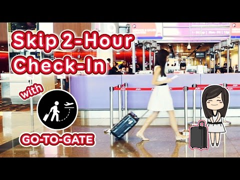 Skip 2-Hour Check-In with Go-To-Gate Service (AirAsia Special) - Guide to Singapore: Episode 6