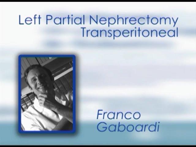 CILR 2011 - Franco Gaboardi - Left partial nephrectomy transperitoneal