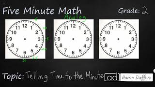 2nd Grade Math Telling Time to the Minute