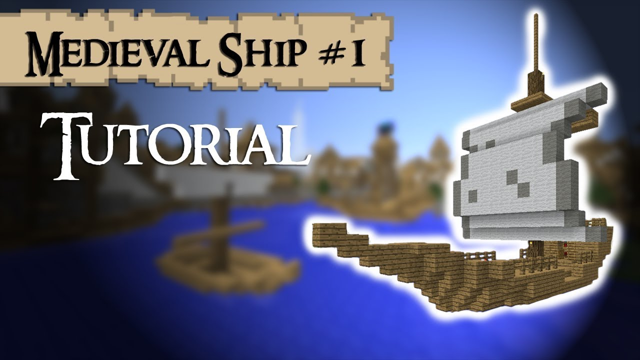 Minecraft Tutorial: How to build a meval ship (small) - YouTube on small minecraft ship plans, small minecraft yacht tutorial, small minecraft village, small boats mod minecraft,