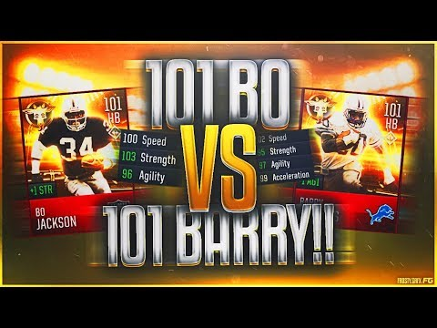 101 OVR BO JACKSON VS. 101 OVR BARRY SANDERS! 2 of the BEST Players EVER in MADDEN MOBILE 18!