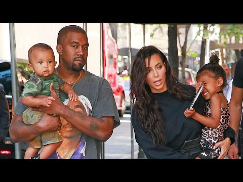 Kim Kardashian, Kanye West, Saint and North Stun in NYC!
