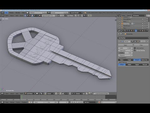 Making edge selections between a start and end point in Blender.