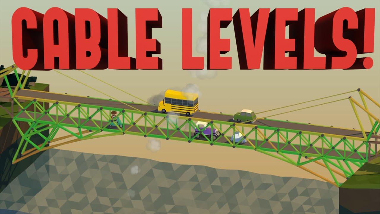 Poly Bridge Steam Levels! Difficult Cable Bridges (Steam Workshop)