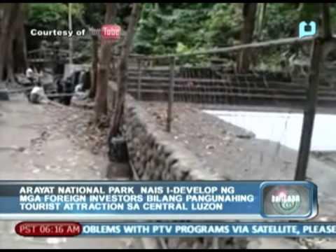 Arayat nat'l park, nais i-develop ng mga foreign investors bilang pangunahing tourist attraction