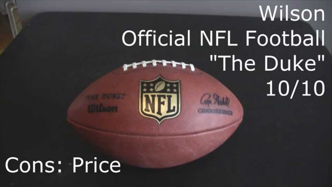 Football Review Wilson Official Nfl Football Youtube