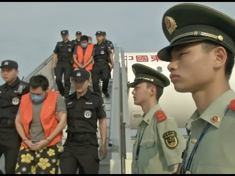 81 Telecom Fraud Suspects Return to China under Escort from Cambodia, Laos