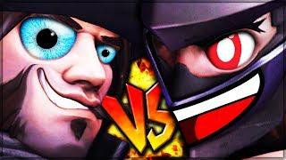 CRIPPLED NINJA VS MALFUNCTIONING COWBOY - Overwatch! (Insane Tactical Fun)