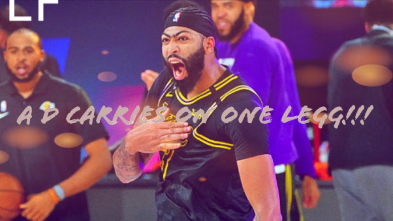 ANTHONY DAVIS CARRIES LAKERS TO THE WIN ON ONE LEG!!!