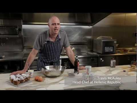 Travis McCauley Makes Chocolate Sour Cream Muffins