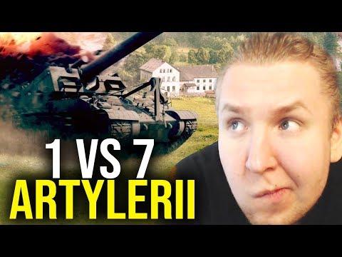 POGROMCA ARTYLERII - 1 VS 7 - World of Tanks thumbnail