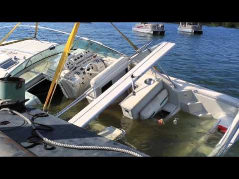 Sunken Boat Recovery: 43ft Cruiser in 150ft deep water