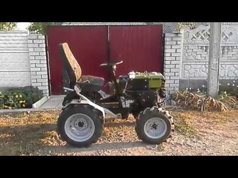 Мини трактор из мотоблока Кентавр 1012 с плавающей коробкой.