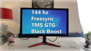 """Acer KG241Q (Pbiip) 24"""" 144hz Gaming monitor   Unboxing and First impression"""