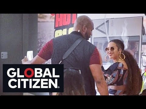 Beyoncé, Jay-z arrived in South Africa. for Global Citizen Festival