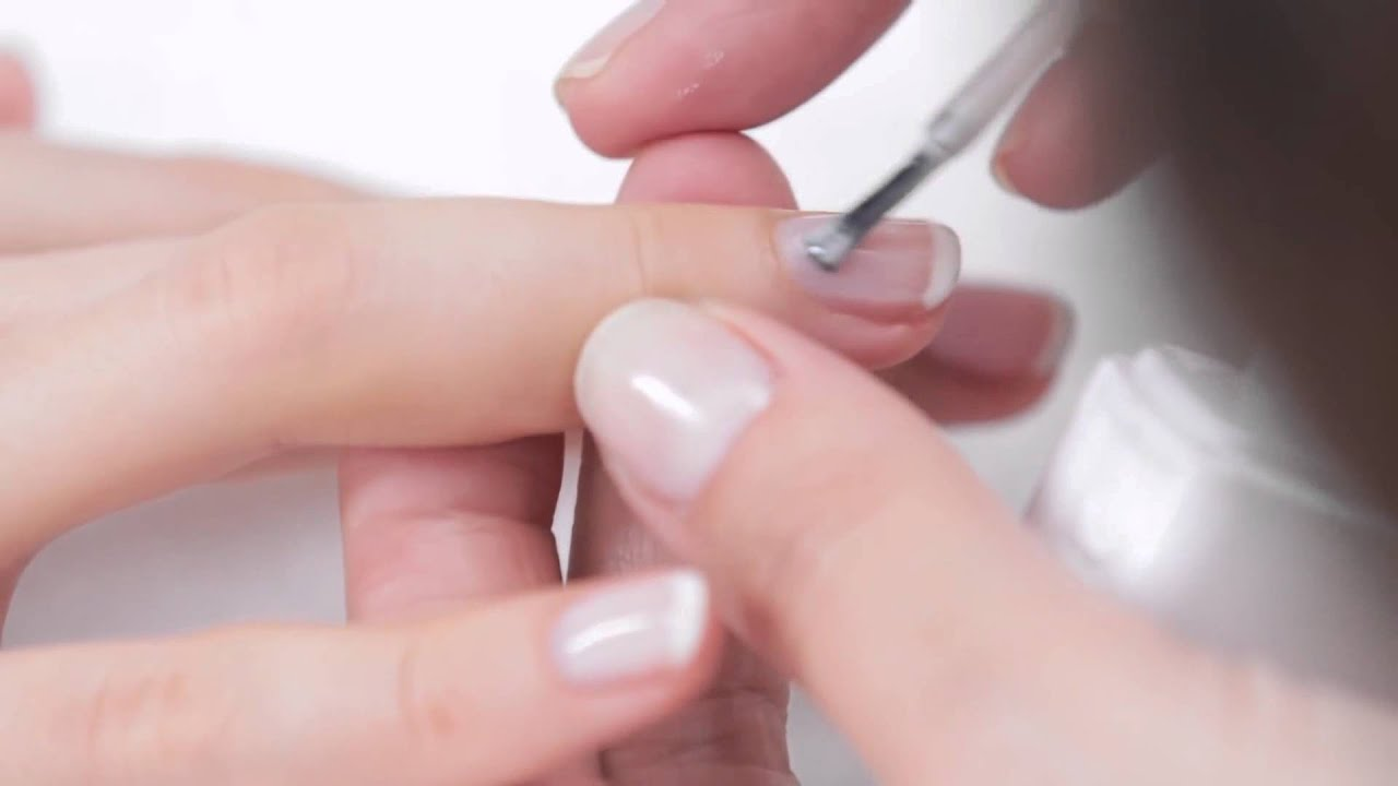 essie gel french manicure tutorial youtube. Black Bedroom Furniture Sets. Home Design Ideas