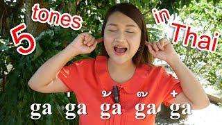 5 tones in Thai - Basic Thai Speaking 1 - Learn Thai by NATTO