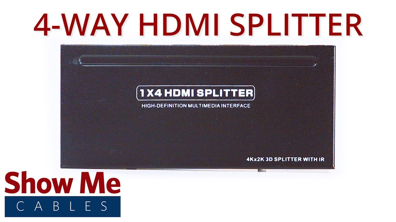 4-Way HDMI Splitter 3D Ready with IR Extension (1-in/4-out) #47-100-002