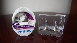 Philips X-tremeVision +130% vs Philips VisionPlus 60%