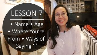Speak Malay Like a Local - Lesson 7: Name, Age, Where You