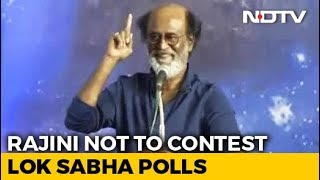 Superstar Rajinikanth Says He Will Not Contest In General Election