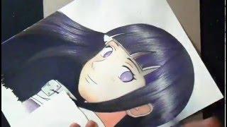 Dibujando a hinata shippuden (Naruto)